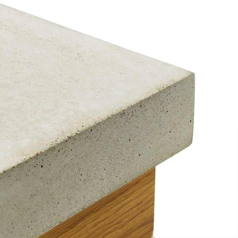 Concrete Countertop Square Edge-57mm + back wall profile