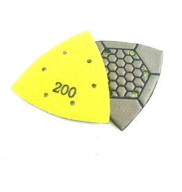 CRTE Triangle diamond  polishing pad 200 (middle) Dry