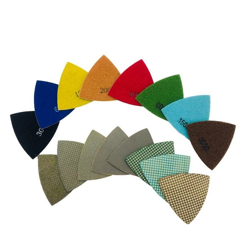 CRTE Triangle diamond polishing pad 220 (middle)
