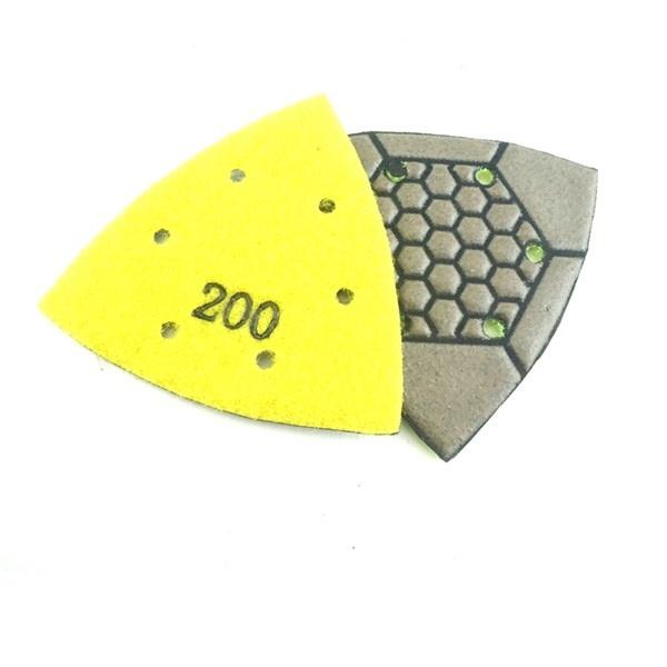 CRTE Triangle diamond  polishing pad 100 (coarse). Dry