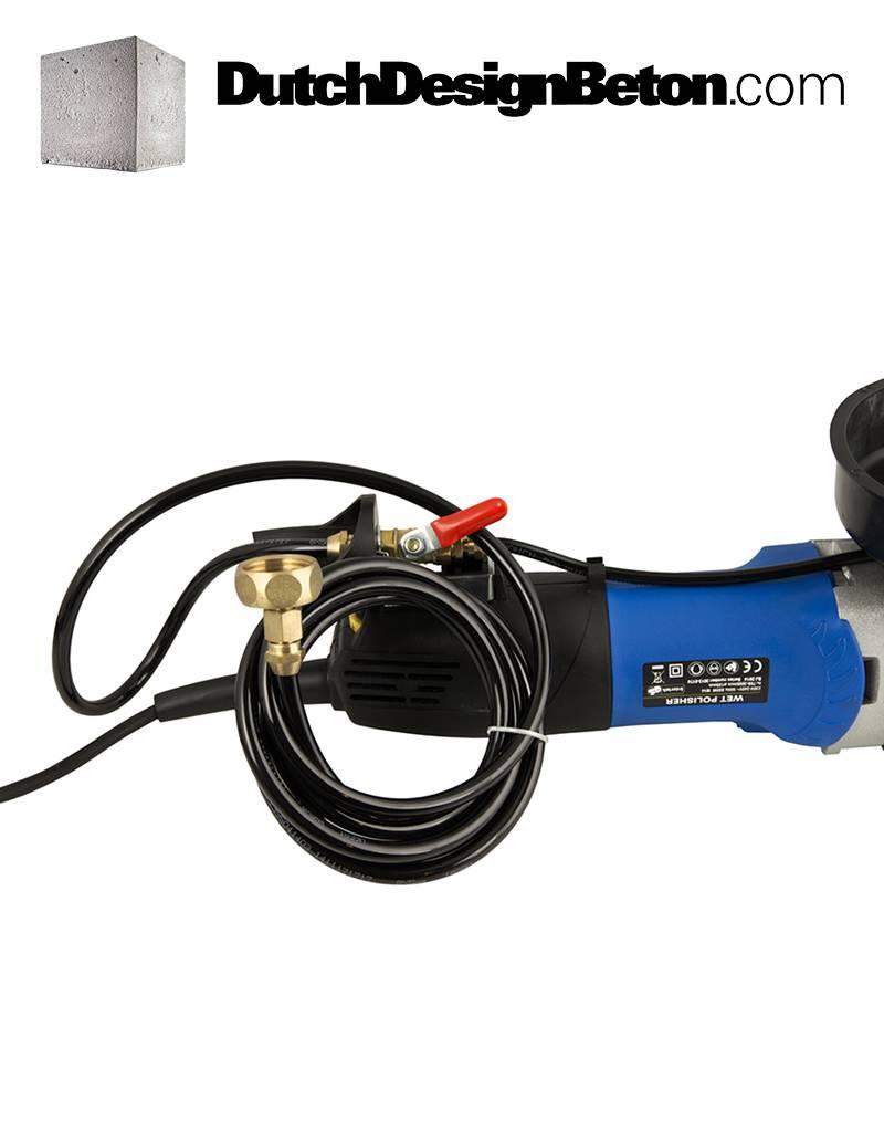 CRTE Polijstmachine 800 Watt natslijpmachine met variabel toerental en PRCD schakelaar, 115 mm