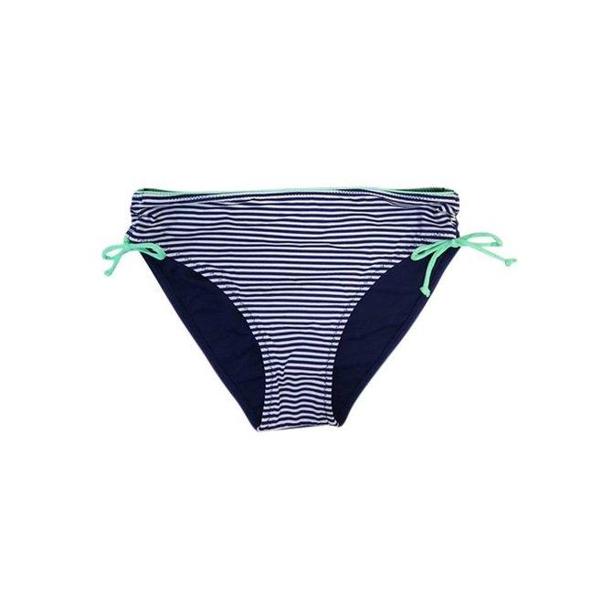 Bikinibroekje Dots & Stripe Blauw/Groen Maat  S-Supersale