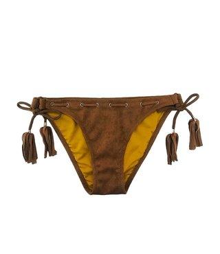 Bikini Broekje Velvet Cognac XS - supersale