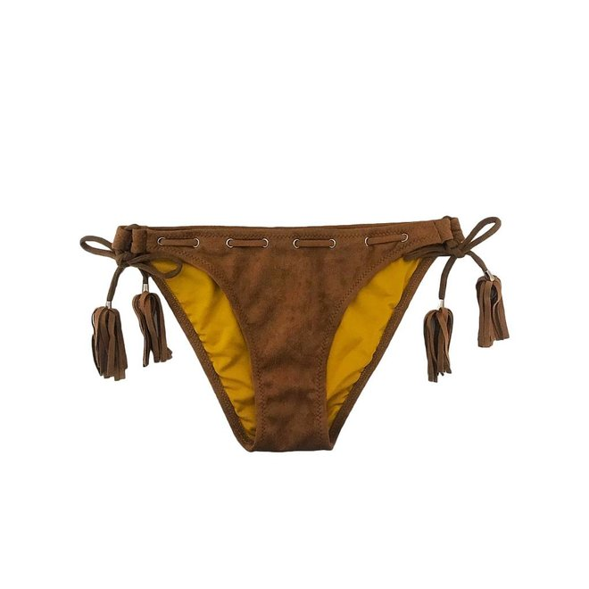 Bikinibroekje Velvet Cognac XS - Supersale