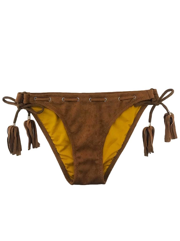 Bikini Broekje Velvet Cognac - supersale