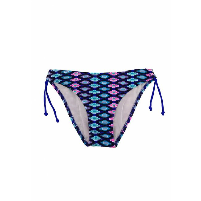 FestyFashion Bikini Broekje Tropical  Blauw Maat S - Supersale