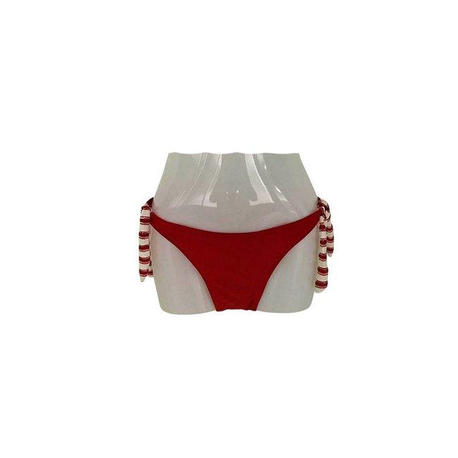 FestyFashion Bikinibroekje Laguna Rood Wit Maat S - Supersale