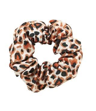 Scrunchie Riva Leopard Roestbruin