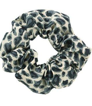 Scrunchie Riva Leopard Grijs