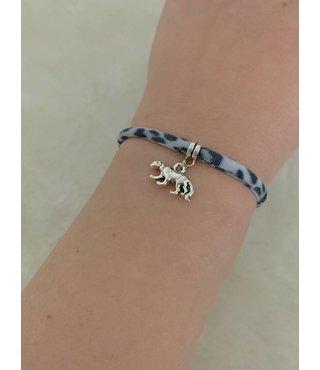 Armband Leopard Grijs - Luipaard