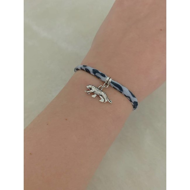 FestyFashion Armband Leopard Grijs - Tijger