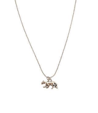 Biba Ketting Zilver - Luipaard