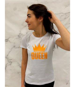 Shirt Wit - 'Queen'