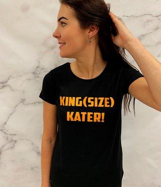 Shirt Zwart maat XS - 'King(size) Kater!' - Supersale