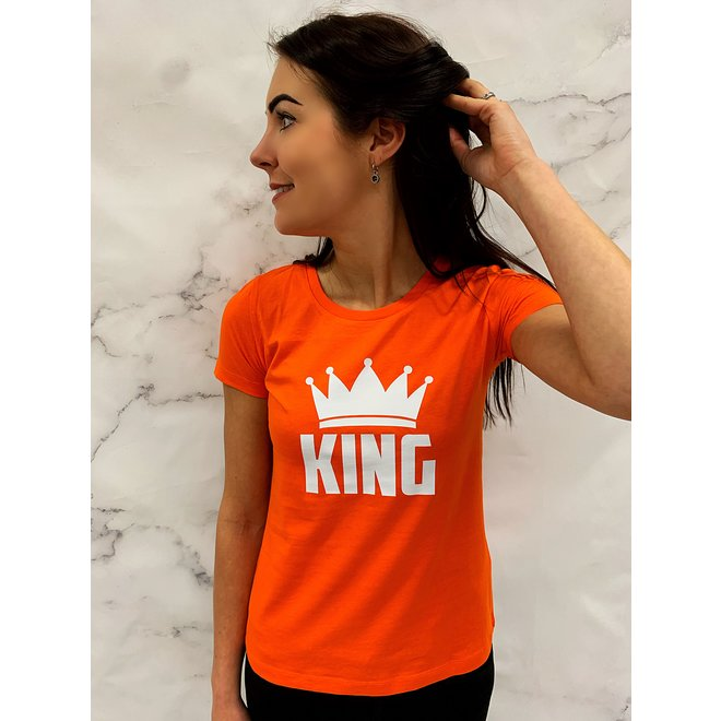 Shirt Oranje - 'King' XS,S,L - Supersale