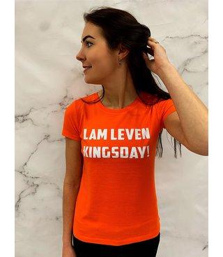 Shirt Oranje maat XS - 'Lam Leven Kingsday!' - Supersale