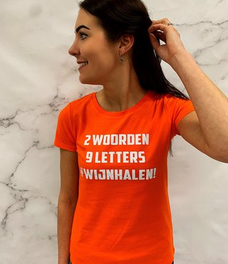 Shirt Oranje - '#Wijnhalen'