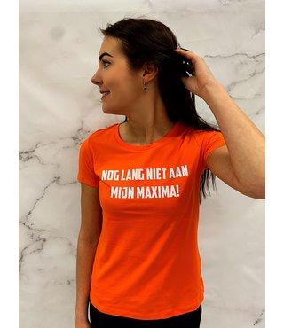 Shirt Oranje maat XS,S.L,XL,2XL 'Niet Aan Mijn Maxima!' - Supersale