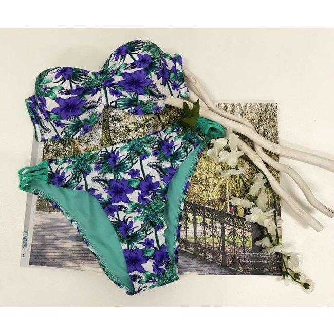 FestyFashion Bikinibroekje Hawaii Paars L,XL - Supersale