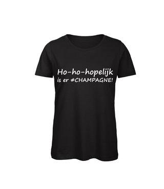 Shirt - 'Ho-ho-hopelijk #CHAMPAGNE!'
