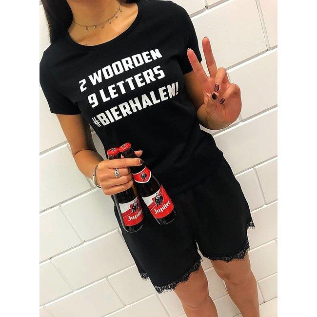 FestyFashion Shirt Hoodie '2 woorden - #bierhalen' - Supersale