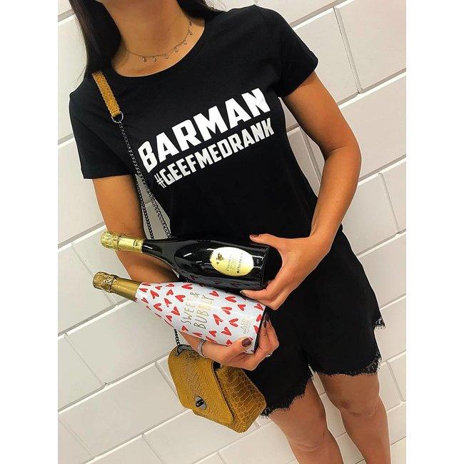 FestyFashion Shirt Hoodie 'Barman geef me drank'  - Supersale