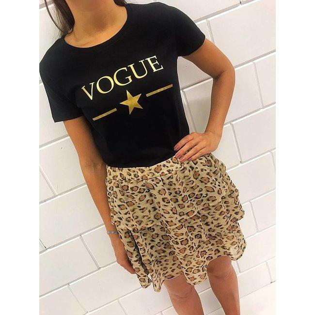 FestyFashion Shirt Hoodie  'Vogue met ster'  - Supersale