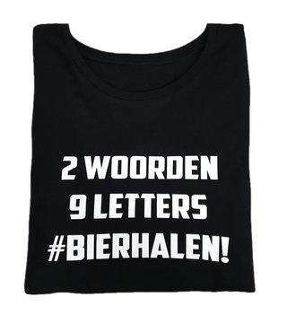 Shirt - '2 woorden - #bierhalen' - Supersale