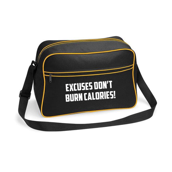 Tas 'Excuses don't burn calories!'  - Supersale