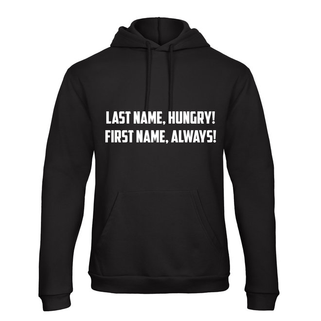 Shirt Hoodie 'Last Name, First Name!' - Supersale