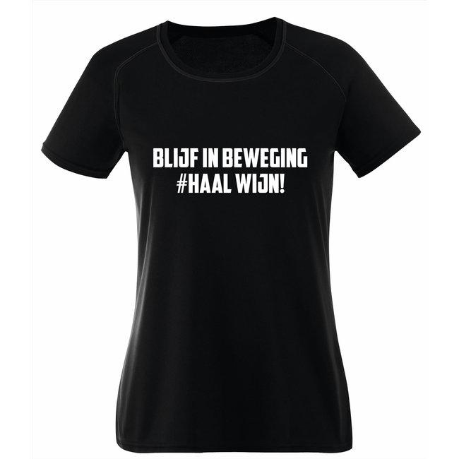 FestyFashion Shirt Hoodie 'Beweging, Wijn!' - Supersale