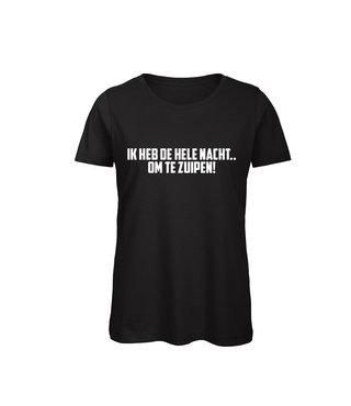 Shirt - 'Om Te Zuipen!' - Supersale