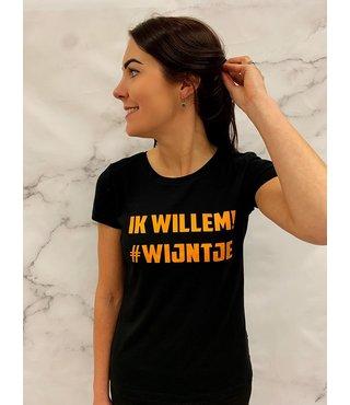 Shirt/Hoodie Zwart - 'Ik Willem #Wijntje!'