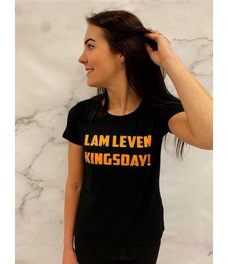 Shirt/Hoodie Zwart - 'Lam Leven Kingsday!'