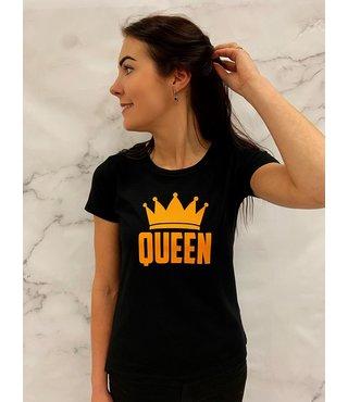 Shirt/Hoodie Zwart - 'Queen (+kroontje)'
