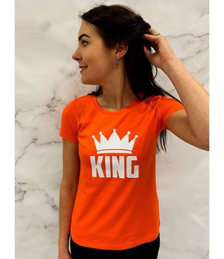 Shirt/Hoodie Oranje - 'King (+kroontje)'