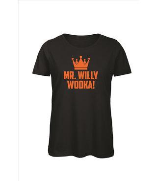 Shirt/Hoodie Zwart - 'Mr. Willy Wodka'