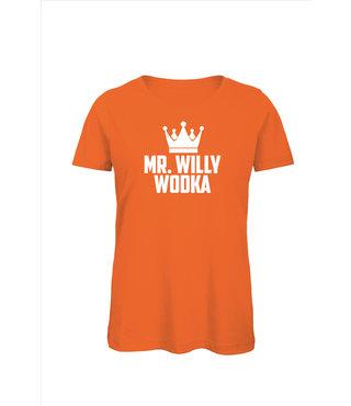 Shirt/Hoodie Oranje - 'Mr. Willy Wodka'