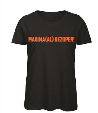 Shirt/Hoodie Zwart - 'Maxima(al) Bezopen'