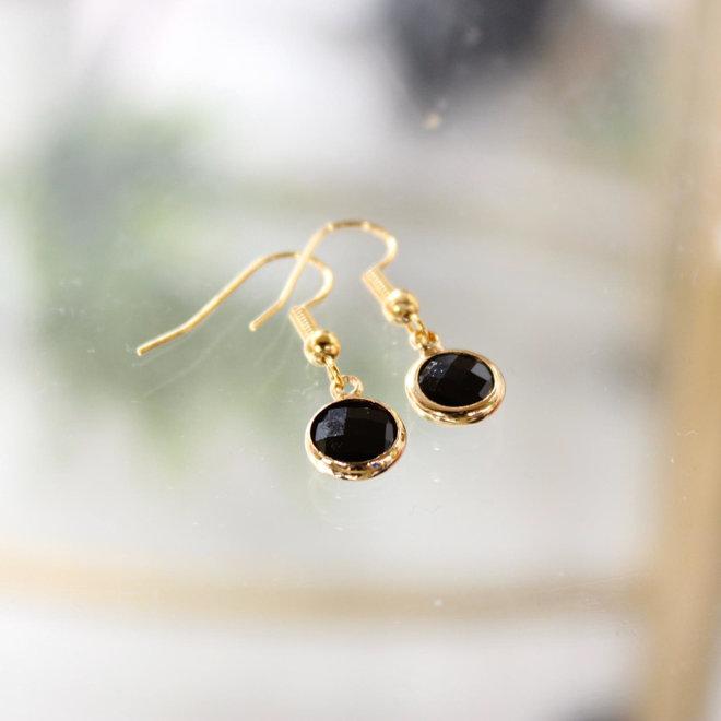 Oorbellen Goud - Diamond Zwart