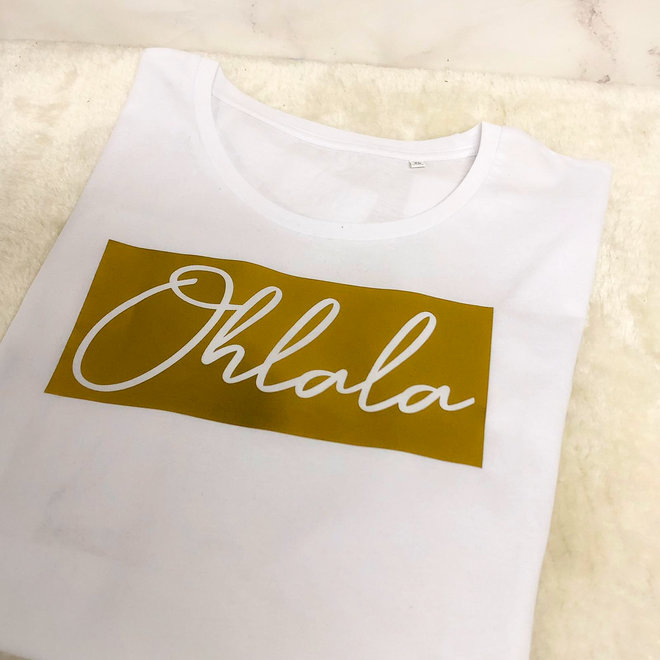 Shirt Zwart/Wit - 'Ohlala Vierkant' - Supersale