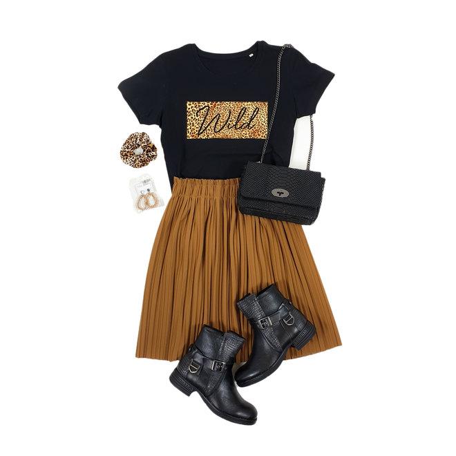 Shirt Zwart/Wit - 'Wild Vierkant' - Supersale