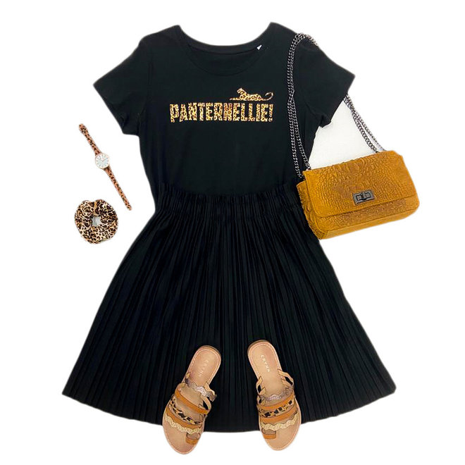 Shirt Zwart/Wit - 'Panternellie!' - Supersale
