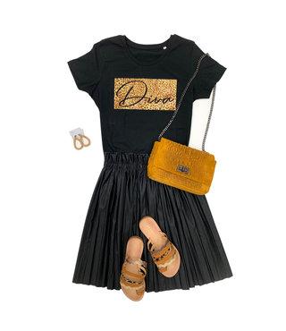 Shirt Zwart/Wit - 'Diva Vierkant' - Supersale