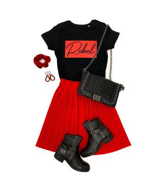Shirt Zwart/Wit - 'Rebel Vierkant' - Supersale