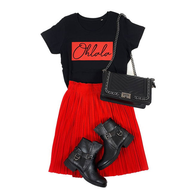 FestyFashion Shirt Hoodie Zwart/Wit - 'Ohlala Vierkant' - Supersale