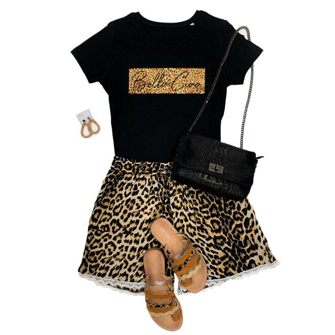 Shirt Zwart/Wit - 'Bella Ciao Vierkant' - Supersale