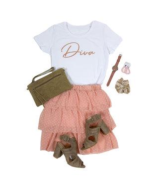 Shirt Zwart/Wit - 'Diva' - Supersale