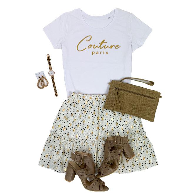 Shirt Zwart/Wit - 'Couture Paris' - Supersale