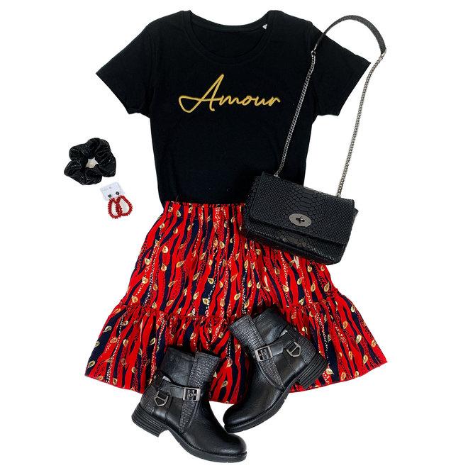 Shirt Zwart/Wit - 'Amour' - Supersale